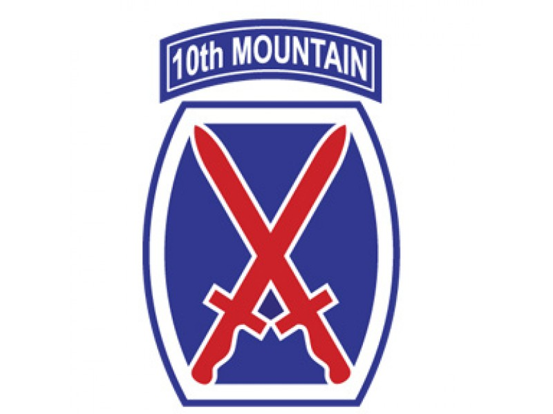 10TH MOUNTAIN DIVISION ARMY DECAL