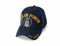 AIRFORCE LOGO WITH STARS GOLD LETTERS