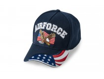 US AIRFORCE FLAG EAGLE ON FRONT FLAG ON BILL CAP