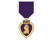 PURPLE HEART AWARD  DECAL