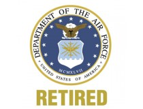 US AIRFORCE RETIRED DECAL