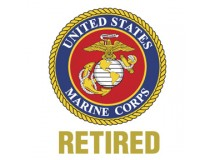 MARINE CORPS RETIRED DECAL