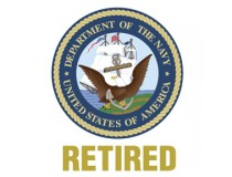 US NAVY RETIRED DECAL
