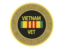 DONT LET THE GREY HAIR FOOL YA VIETNAM VETS CAN STILL KICK ASS DECAL