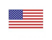 US AMERICAN FLAG DECAL