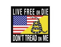 LIVE FREE OR DIE DONT TREAD ON ME DECAL