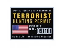 TERRORIST HUNTING PERMIT DECAL