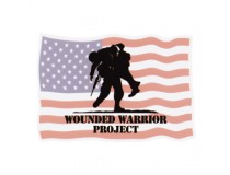 WOUNDED WARRIOR PROJECT WITH WAVING AMERICAN FLAG