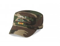 UH-1 HUEY SERVICE RIBBON VIETNAM FLAT TOP OLIVE DRAB CAMOUFLAGE