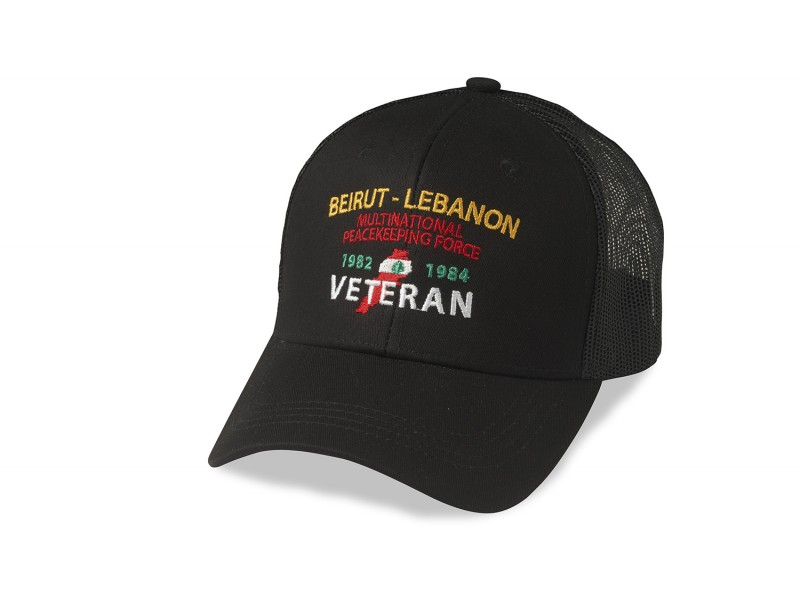 BEIRUT-LEBANON CUSTOM BLACK MEASH CAP