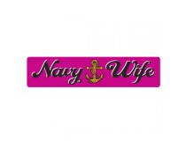 NAVY WIFE PINK DECAL