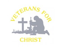 VETERANS FOR CHRIST DECAL  DESIGNED BY ME...ON TINTED WINDOW ITS BEAUTIFUL