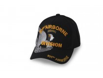 101ST AIRBORNE BLACK CAP WITH JUMP WINGS