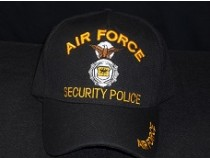 AIRFORCE SECURITY POLICE CAP BLACK