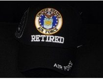 AIRFORCE RETIRED CAP BLACK