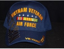 AIRFORCE BLUE 5 STAR RIBBON VIETNAM CAP