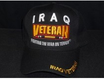 BLACK,WHITE,GOLD IRAQI VETERAN CAP