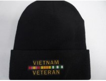 BLACK VIETNAM STOCKING CAP