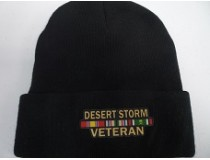 DESERT STORM BLACK STOCKING CAP