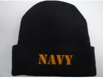 NAVY BLACK STOCKING CAP
