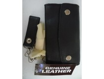 LEATHER CHAIN WALLET FIRM COWHIDE