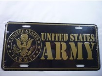 UNITED STATES ARMY CAR TAG *MADE IN USA*