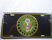 UNITED STATES ARMY INSIGNIA CAR TAG  *MADE IN USA*