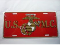 USMC GLOBE ANCHOR CAR TAG  * USA MADE*