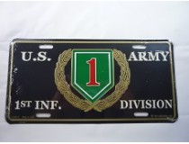 BIG RED ONE 1ST INFANTRY CAR TAG  *USA MADE*