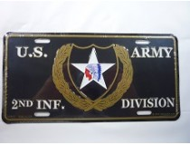 2ND INFANTRY DIVISION CAR TAG  *USA MADE*