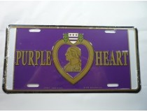 PURPLE HEART CAR TAG  *US MADE*