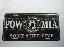 POW MIA CAR TAG  * US MADE*
