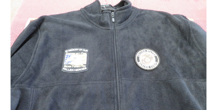 CUSTOM SEWN PATCH FLEECE JACKETS