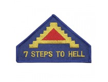7th ARMY UNIT PATCH SEVEN STEPS TO HELL THEY SAY....