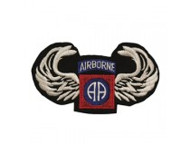 82 AIRBORNE WITH JUMP WINGS PATCH