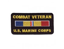 US MARINE CORPS COMBAT ACTION VETERAN RIBBON PATCH