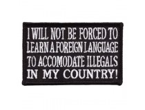 I WILL NOT BE FORCED TO LEARN A LANGUAGE