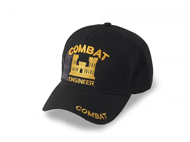 US ARMY COMBAT ENGINEER GOLD  CASTLE LETTER CAP
