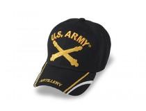 US ARMY ARTILLERY CROSS CANON GOLD WHITE TRIM DOWN BILL