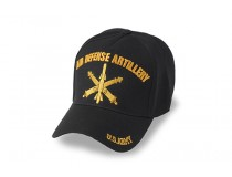 US ARMY AIR DEFENSE MISTLE BLACK CAP GOLD STITCH