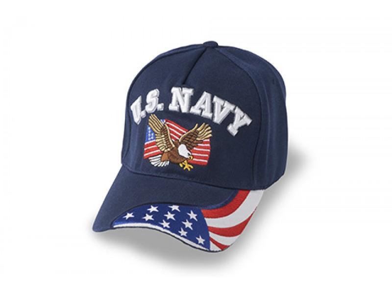 US NAVY AMERICAN FLAG EAGLE AMERICAN FLAG ON BILL