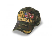 US NAVY VETERAN WHITE OD GREEN DIGITAL VETERAN CAP