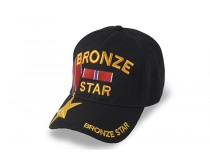 BRONZE STAR CAP STAR ON BILL OF CAP