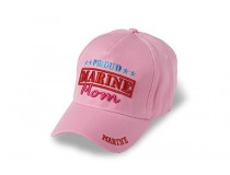 PROUD MARINE MOM RED LETTERS CAP
