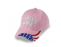 PINK MARINE WIFE FLAG ON BILL