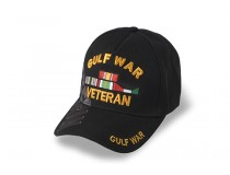 GULF WAR VETERAN WITH RIBBON CAP BLACK