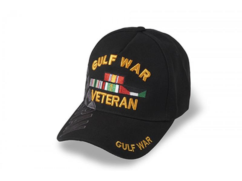 GULF WAR VETERAN WITH RIBBON CAP BLACK