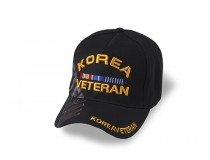 KOREA VETERAN RIBBON CAP BLACK