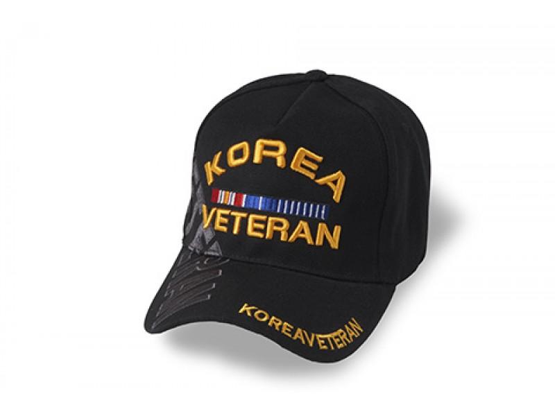 KOREA VETERAN RIBBON CAP BLACK