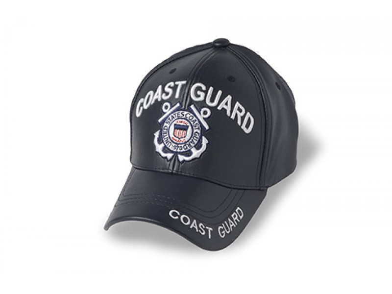 US COAST GUARD LEATHER CAP
